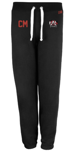 Turku Titans Womens Black Sweatpants (Logo Embroidery, Everything Else Print)