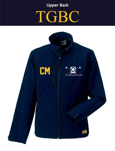 Gorse Boat Navy Mens Softshell Jacket (Logo Embroidery, Everything Else Print)