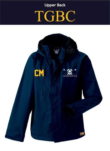 Gorse Boat Navy Womens Hydroplus Jacket (Logo Embroidery, Everything Else Print)