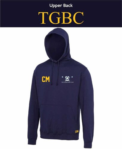 Gorse Boat Navy Unisex Hoodie (Logo Embroidery, Everything Else Print)