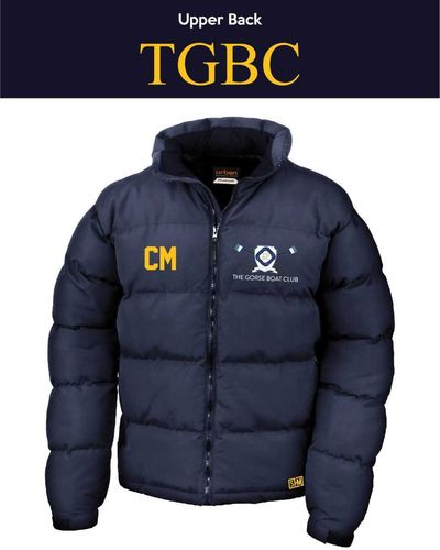 Gorse Boat Navy Unisex Puffa (Logo Embroidery, Everything Else Print)