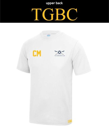 Gorse Boat White Mens Performance Tee (All Print)