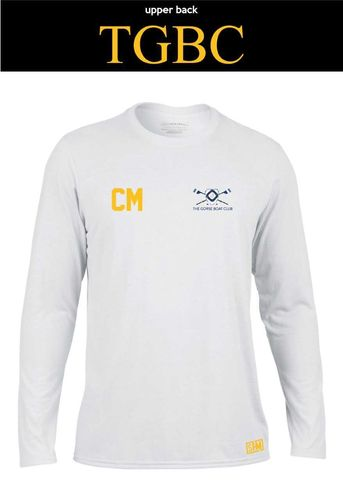 Gorse Boat White Mens Long Sleeve Performance Tee (All Print)