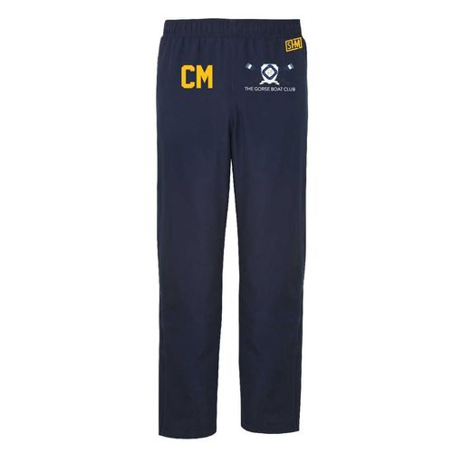 Gorse Boat Navy Mens Trackies (Logo Embroidery, Everything Else Print)