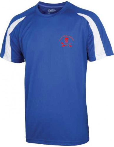 CCY Royal Blue/White Junior Contrast Performance Tee (All Print)