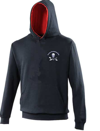 CCY Navy/Red Varsity Hoodie (Logo Embroidery, Everything Else Print)
