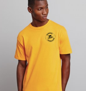 Windsor Canoe Adult Gold Cotton Tee (All Print)