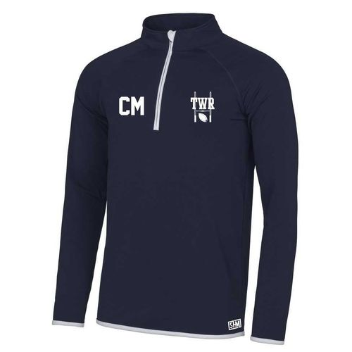 Trent Womens Rugby Navy Performance Sweatshirt (Logo Embroidery, Everything Else Print)