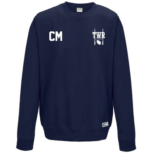 Trent Womens Rugby Navy Sweatshirt (Logo Embroidery, Everything Else Print)
