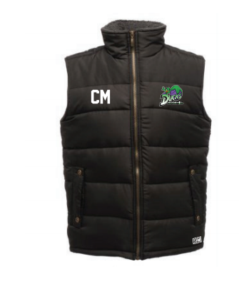 Edge Hill Basketball Black Unisex Gilet (Logo Embroidery, Everything Else Print)