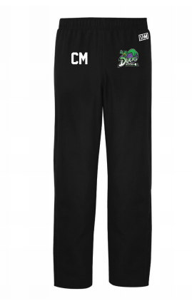 Edge Hill Basketball Black Womens Trackies (Logo Embroidery, Everything Else Print)