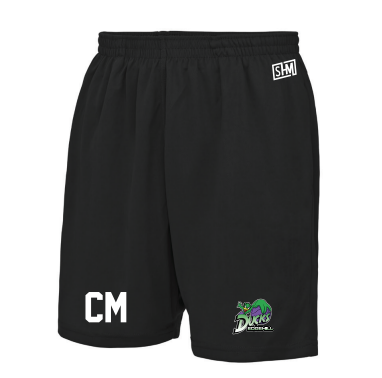 Edge Hill Basketball Black Unisex Shorts (All Print)