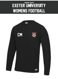 Exeter Uni Womens Football Black Long Sleeved Performance (All Print)
