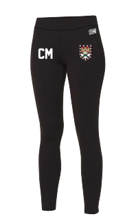 Exeter Uni Womens Football Black Leggings (All Print)