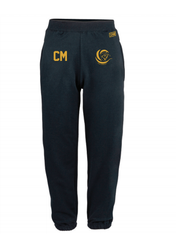 Surge Gymnastics Navy Womens Sweatpants (Logo Embroidery, Everything Else Print)