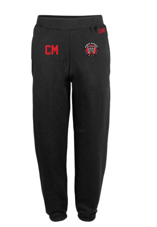 Gorse Karate Black Mens Sweatpants (Logo Embroidery, Everything Else Print)