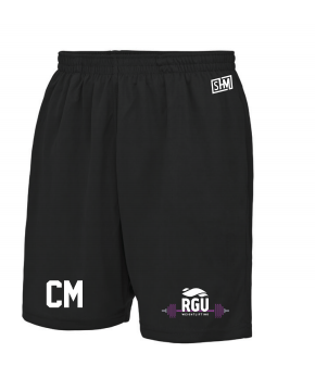 RGU Weightlifting Black Unisex Shorts (All Print)