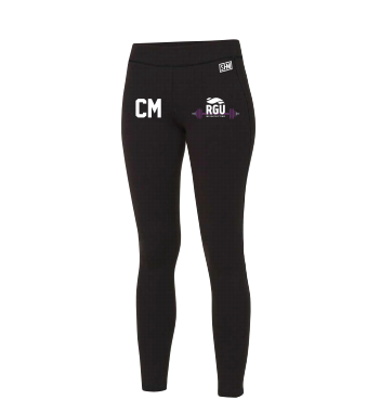 RGU Weightlifting Black Unisex Leggings (All Print)