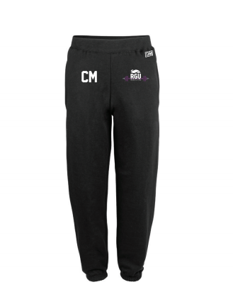 RGU Weightlifting Black Mens Sweatpants (Logo Embroidery, Everything Else Print)