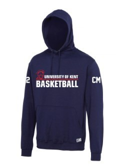 Kent Basketball Navy Unisex Hoodie (All Print) (Big Front Print)