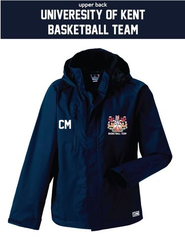 Kent Basketball Navy Womens Hydroplus Jacket (Logo Embroidery, Everything Else Print (Standard Setup