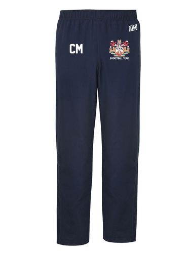 Kent Basketball Navy Mens Trackies (Logo Embroidery, Everything Else Print (Standard Setup)