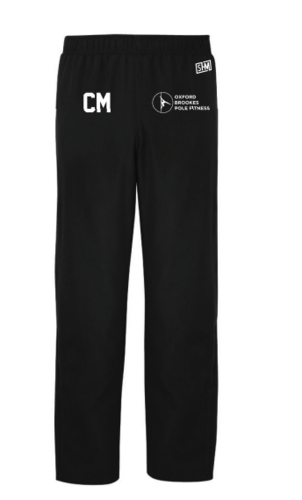 Oxford Brookes Pole Black Womens Trackies (Logo Embroidery, Everything Else Print)