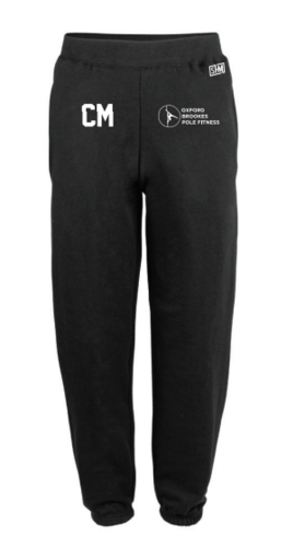 Oxford Brookes Pole Black Womens Sweatpants (Logo Embroidery, Everything Else Print)