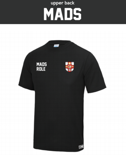 Bristol MADS Society Black Mens Performance Tee (All Print)