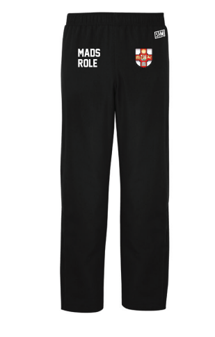 Bristol MADS Society Black Mens Trackies (Logo Embroidery, Everything Else Print)