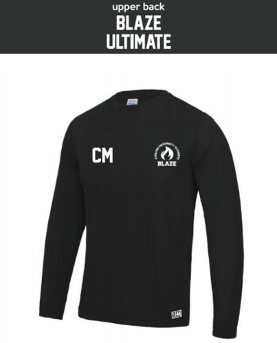 Stirling Blaze Ultimate Black Mens Long Sleeved Performance Tee (All Print)