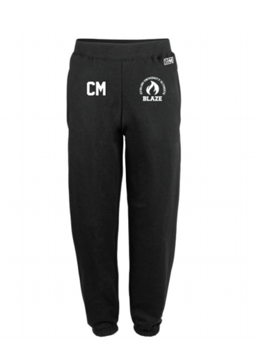 Stirling Blaze Ultimate Black Womens Sweatpants (Logo Embroidery, Everything Else Print)