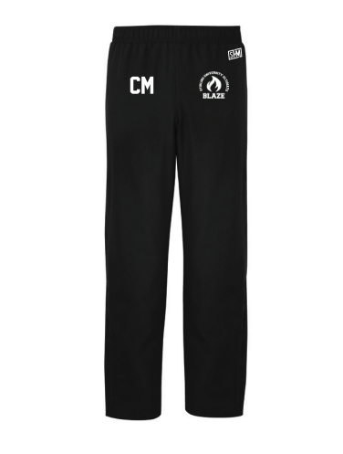 Stirling Blaze Ultimate Black Mens Trackies (Logo Embroidery, Everything Else Print)