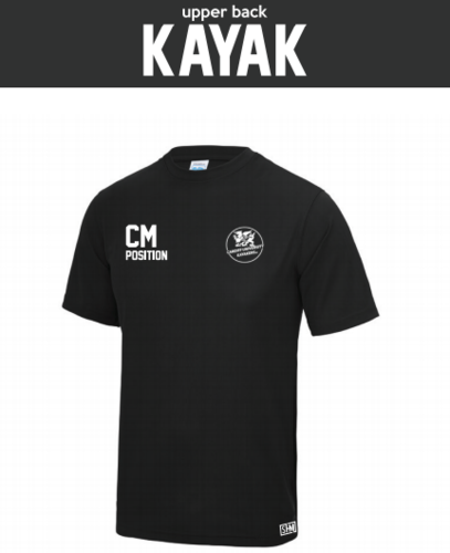 Cardiff Kayakers Black Mens Performance Tee (All Print)