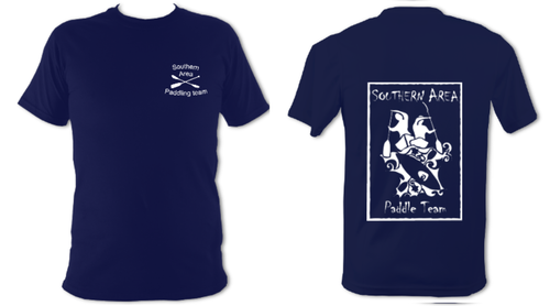 Southern Area Paddle Team Navy Unisex Performance Tee (All Print)