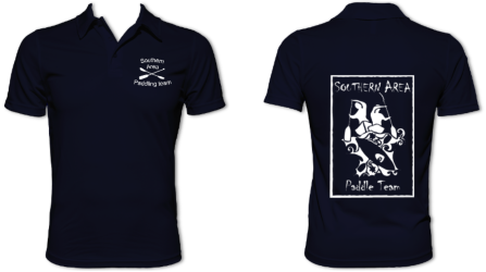 Southern Area Paddle Team Navy Performance Smooth Polo (All Print)