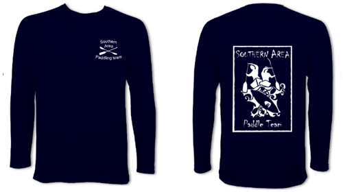 Southern Area Paddle Team Navy Long Sleeve Performance Tee (All Print)