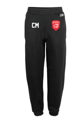 Essex Blade Womens Football Black Sweatpants (Logo Embroidery, Everything Else Print)