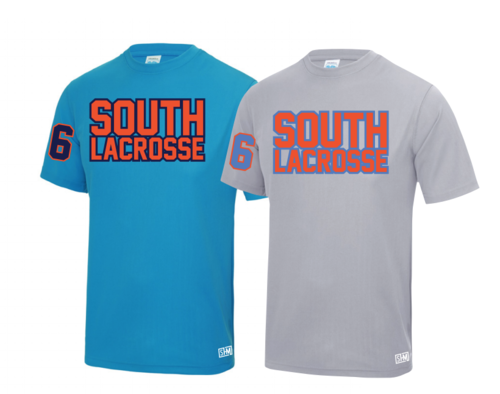 South Mens Lacrosse Heather Grey Performance Tee (All Print)