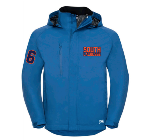 South Mens Lacrosse Blue Hydroplus Jacket (Logo Embroidery, Everything Else Print)