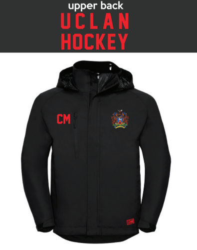 Uclan University Hockey Black Mens Hydroplus Jacket (Logo Embroidery, Everything Else Print)
