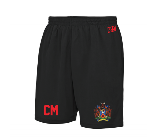 Uclan University Hockey Unisex Black Shorts (All Print)