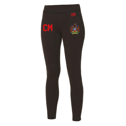 Uclan Hockey Black Womens Leggings (All Print)