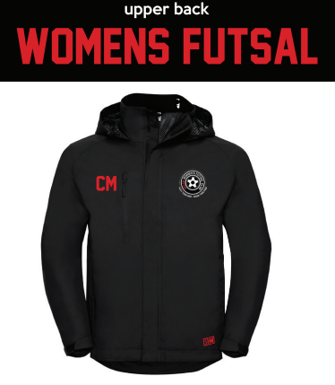 Uclan Futsall Black Womens Hydroplus (Logo Embroidery, Everything Else Print)