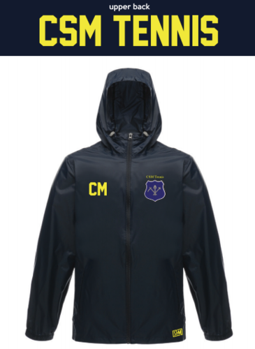 CSM Tennis Navy Unisex Windbreaker (Logo Embroidery, Everything Else Print)