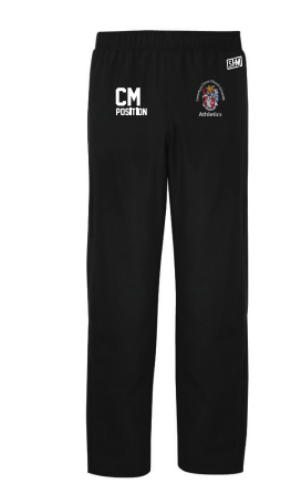 CCCU Athletics Black Mens Trackies (Logo Embroidery, Everything Else Print)