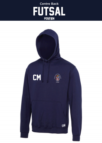 CCCU Womens Futsal Unisex Hoodie (Logo Embroidery, Everything Else Print)