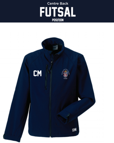 CCCU Womens Futsal Navy Softshell (Logo Embroidery, Everything Else Print)