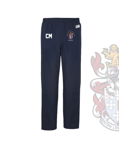 CCCU Netball Navy Womens Trackies (Logo Embroidery, Everything Else Print)
