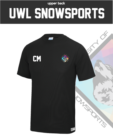 UWL Snow Sports Black Womens Performance Tee (All Print)